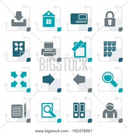 Stylized Internet and Web Site Icons - Vector Icon Set