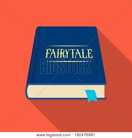 Book with fairytales icon in flate design isolated on white background. Sleep and rest symbol stock vector illustration.