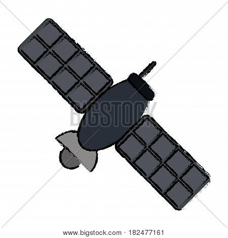 drawing satellite telecommunication transmitter signal world vector illustration eps 10