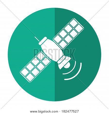 satellite telecommunication transmitter signal world shadow vector illustration eps 10