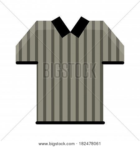 referee jersey stripes american football vector illustration eps 10