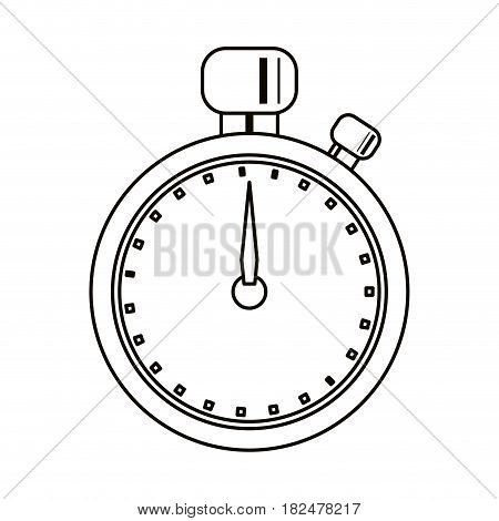 stopwatch chronometer sport equipment outline vector illustration eps 10