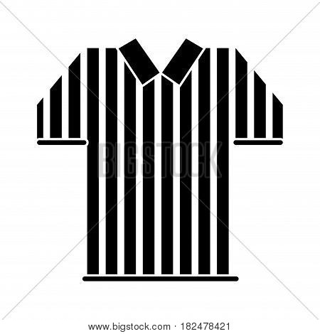silhouette referee jersey stripes american football vector illustration eps 10