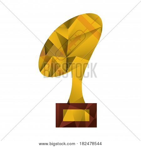 ball trophy shape american football award abstract vector illustration eps 10