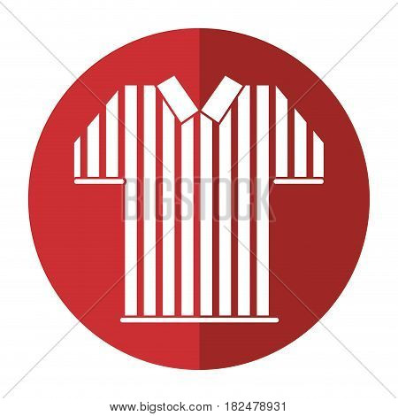 referee jersey stripes american football shadow vector illustration eps 10