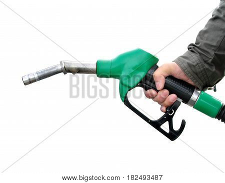 Fuel pump on white background close up image