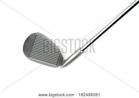 Golf club isolated on white background .