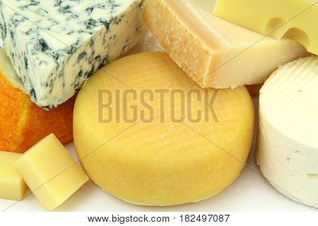 yummy and Various cheeses ,close up image