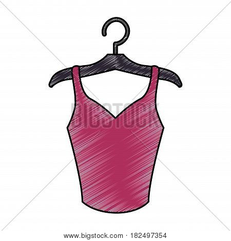 Women fashion accesory scribble icon vector illustration
