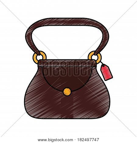 Women fashion accesory scribble icon vector illustration