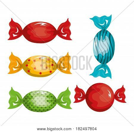 caramels candy traditional graphic isolated vector illustration eps 10