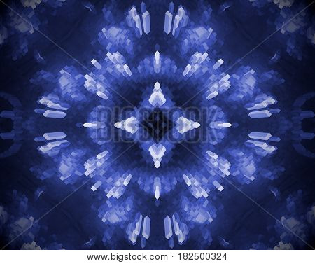 Abstract Extruded Mandala 3D Illustration 4 Sided Star