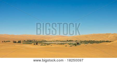 Lake Mandara - Desert Oasis, Sahara, Libya