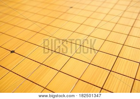 Blnak go game chessboard background in China
