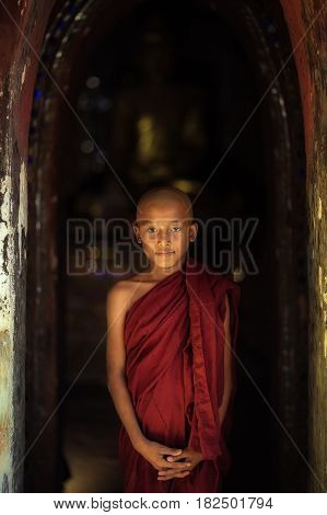 Monk Myanmar monk tPortrait Myanmar his life of Myanmar religion Buddhist monk in bagan Myanmar