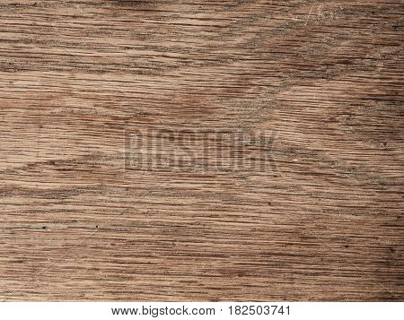Texture of an old used oak plank wood using as natural background