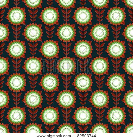 Simple style flower seamless pattern. Tiled design, best for print fabric or papper and more.