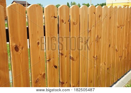 Wooden Fence Door.  Wood Fence - Wood Fencing.