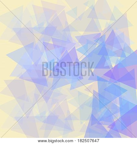 абстрактный светло желтый фон с фигурами треугольника
