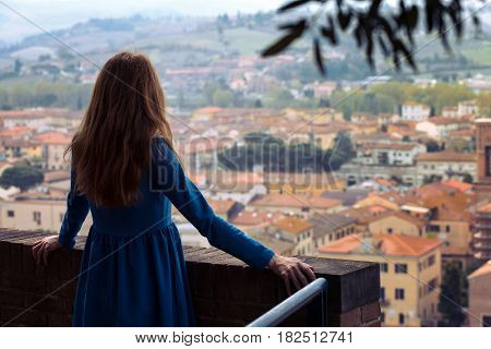 Girl Looks At The City