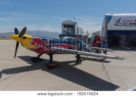 Red Bull Airplane On Display