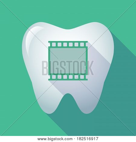 Long Shadow Tooth With   A Photographic 35Mm Film Strip