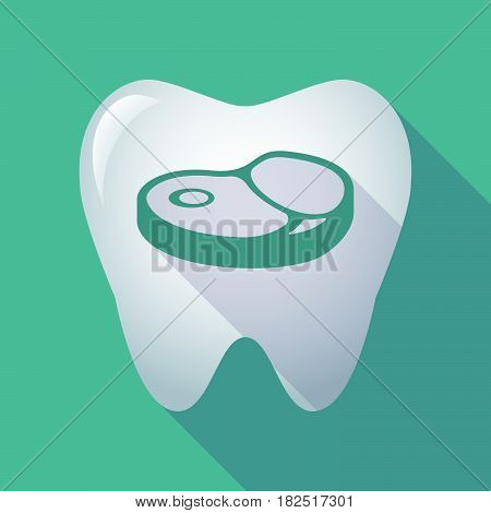Long Shadow Tooth With  A Steak Icon