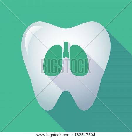 Long Shadow Tooth With  A Healthy Human Lung Icon