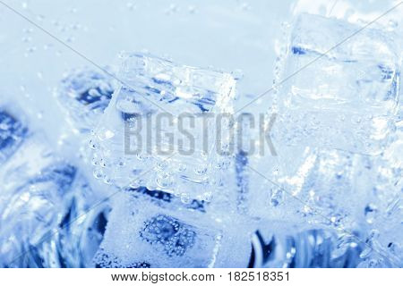 Backgrounds With Ice Cubes In Sparkling Water