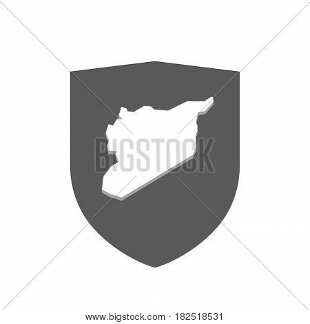 Isolated Shield With  The Map Of Syria