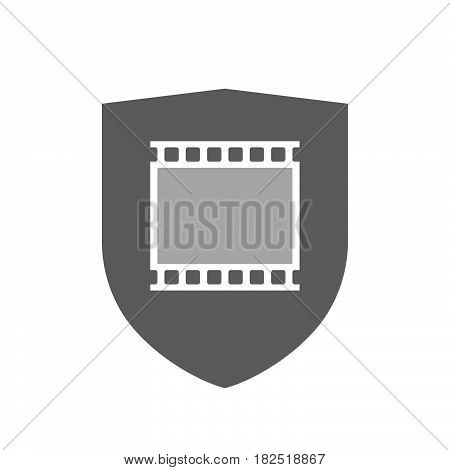 Isolated Shield With   A Photographic 35Mm Film Strip