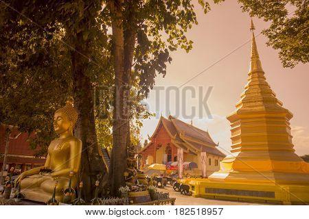 Thailand Chiang Rai Wat Yet Yod