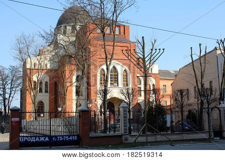 KHARKOV, UKRAINE - APRIL 23, 2011: The Choral Synagogue is an active religious institution and architectural monument of the city.