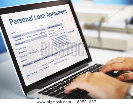 Personal Loan Agreement Banking Finance Credit Concept