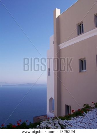 Oia House Looking Over The Caldera