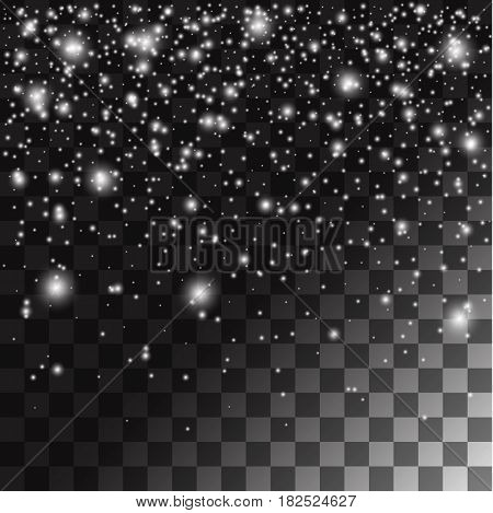 Abstract falling snow background with the opacity background. Stock vector
