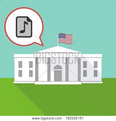 The White House With  A Music Score Icon