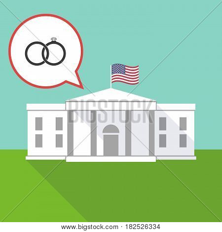 The White House With  Two Bonded Wedding Rings