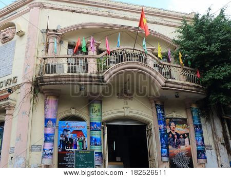 HANOI VIETNAM - NOVEMBER 22, 2016: Golden Bell Theatre. Golden Bell Theatre is a venue for collection of Vietnamese traditional art performance.