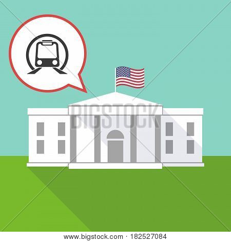 The White House With  A Subway Train Icon