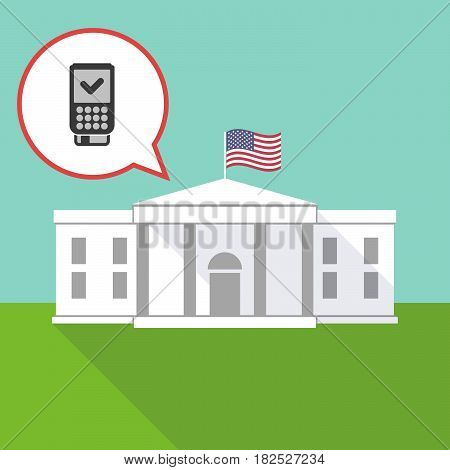 The White House With  A Dataphone Icon