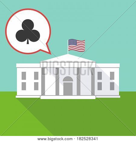 The White House With  The  Club  Poker Playing Card Sign