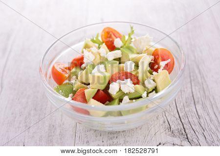 avocado,tomato and feta salad