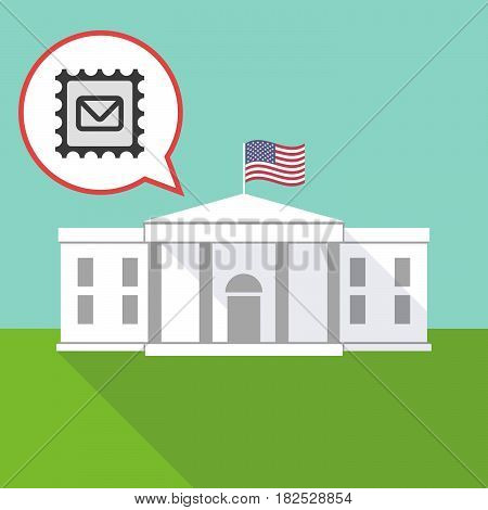 The White House With  A Mail Stamp Sign