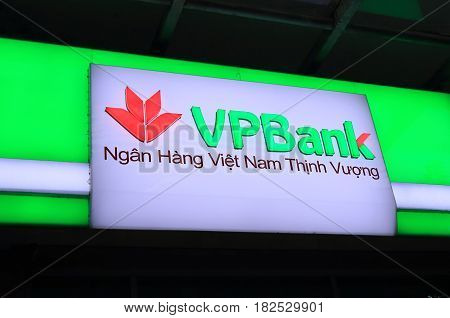 HANOI VIETNAM - NOVEMBER 22, 2016: VPBank. Vietnam Prosperity bank known as VPBank is one of the earliest-established Joint-stock Commercial banks in Vietnam