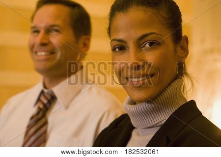 Close up of multi-ethnic business people