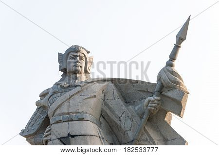 Hebei, China - Oct 23 2015: Zhao Yun Statues At Zilong Square In Zhengding, Hebei, China. Was A Mili