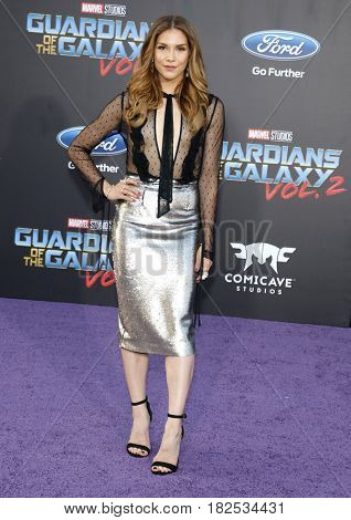 Allison Holker at the Los Angeles premiere of 'Guardians Of The Galaxy Vol. 2' held at the Dolby Theatre in Hollywood, USA on April 19, 2017.