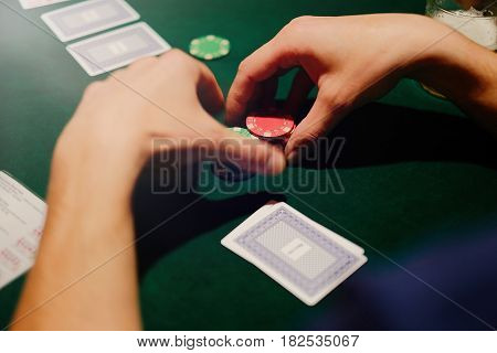Poker Game Is The Player Holds Chips