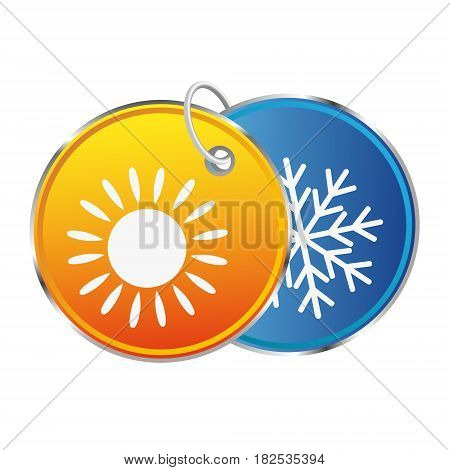 Heat and cold abstract vector symbol design